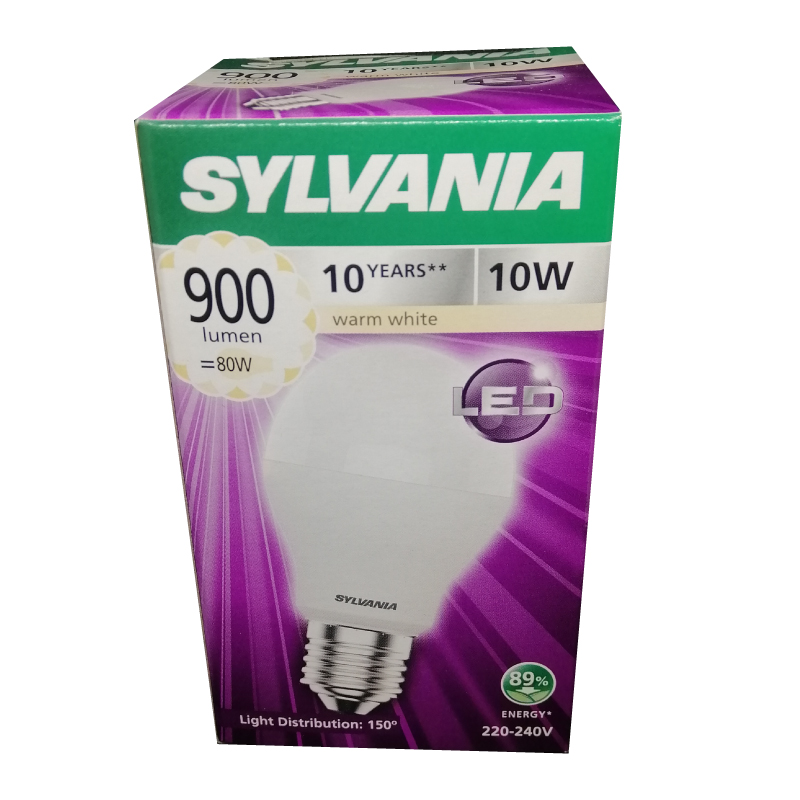 SYLVANIA หลอดไฟ LED Eco Toledo A60 10W แสง Warmwhite