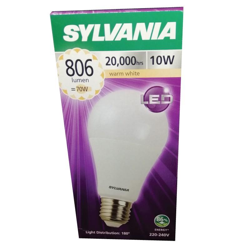 SYLVANIA หลอดไฟ ToLEDo A60 10W E27 2700K  20,000 Hrs แสง Warmwhite