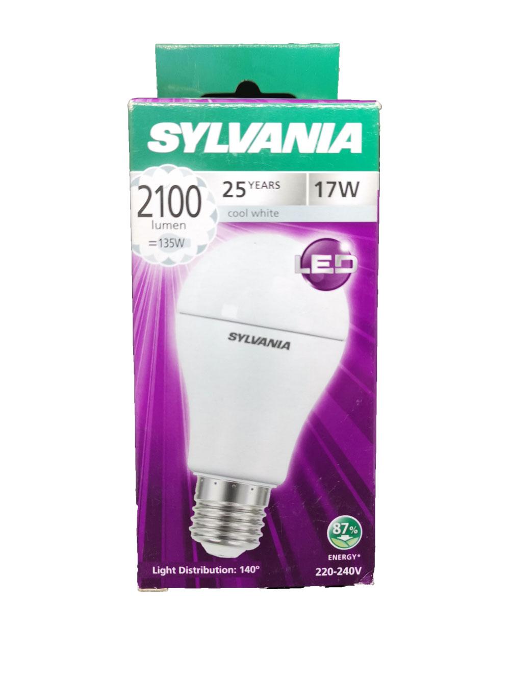 SYLVANIA หลอดไฟ LED ECO ToLEDo A60 17W E27 4000K  (แสงคลูไวท์)