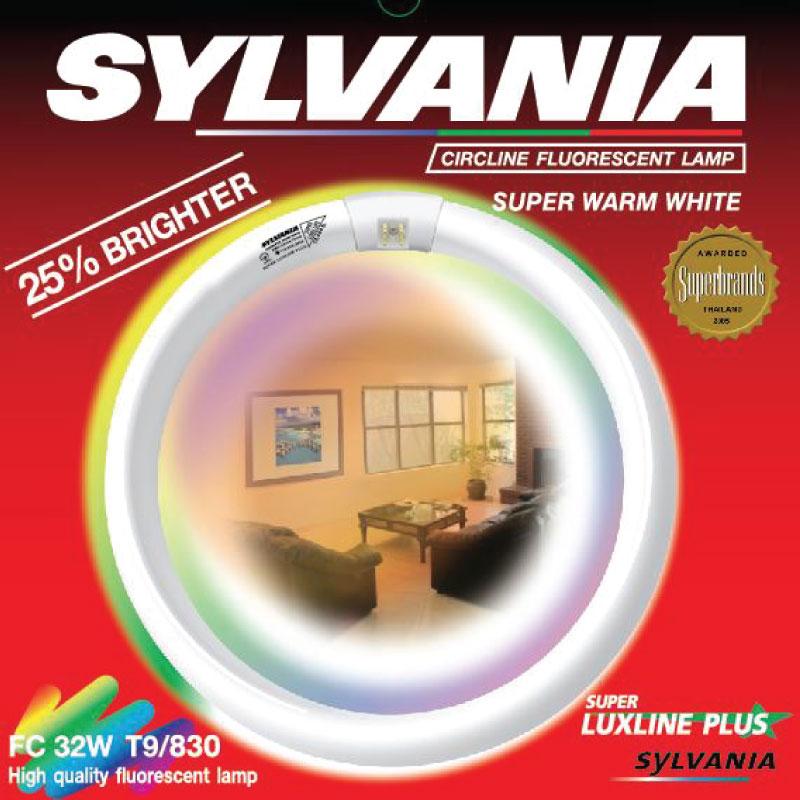 SYLVANIA หลอดนีออนกลม 32W   Super Luxline G10q-I แสงวอร์มไวท์ (สีเหลือง)