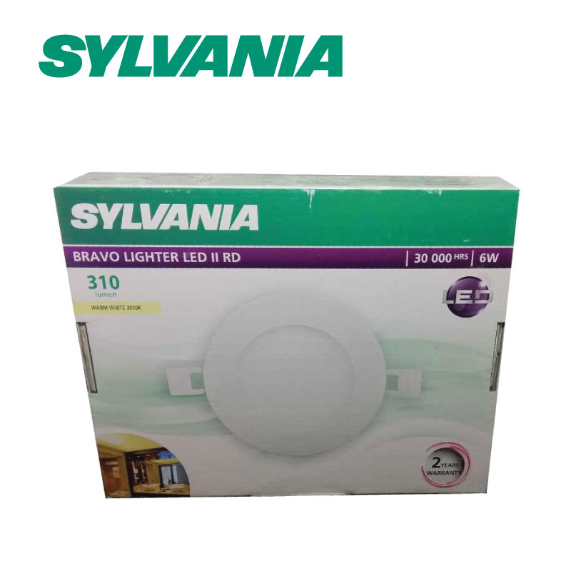 SYLVANIA  ดาวน์ไลท์ BRAVO LIGHTER LED II RD 6W II WW _6 วัตต์ (แสงวอร์ทไวท์)
