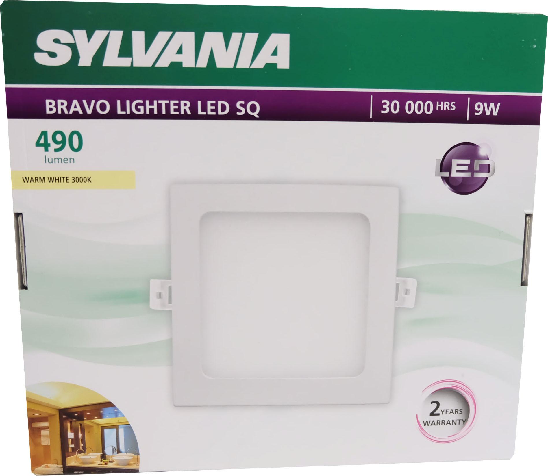SYLVANIA  ดาวน์ไลท์ BRAVO LIGHTER LED SQ   _9 วัตต์ (แสงวอร์มไวท์)