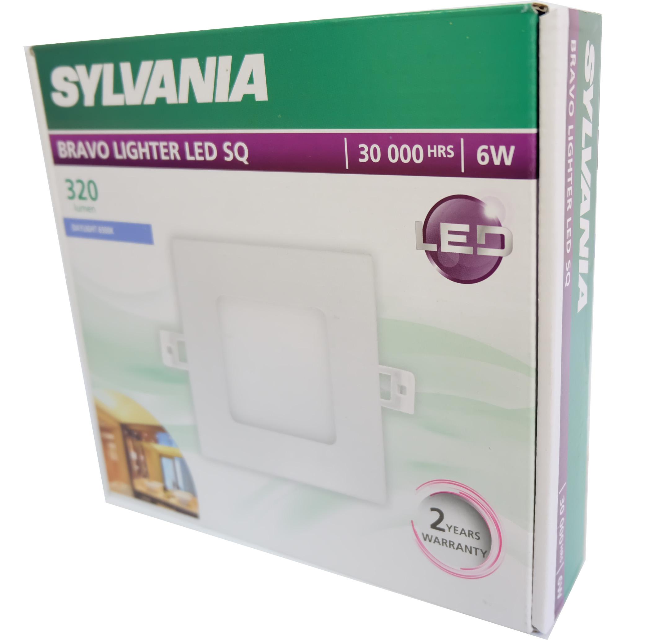 SYLVANIA  ดาวน์ไลท์ BRAVO LIGHTER LED SQ 6W  _6 วัตต์ (แสงเดย์ไลท์)