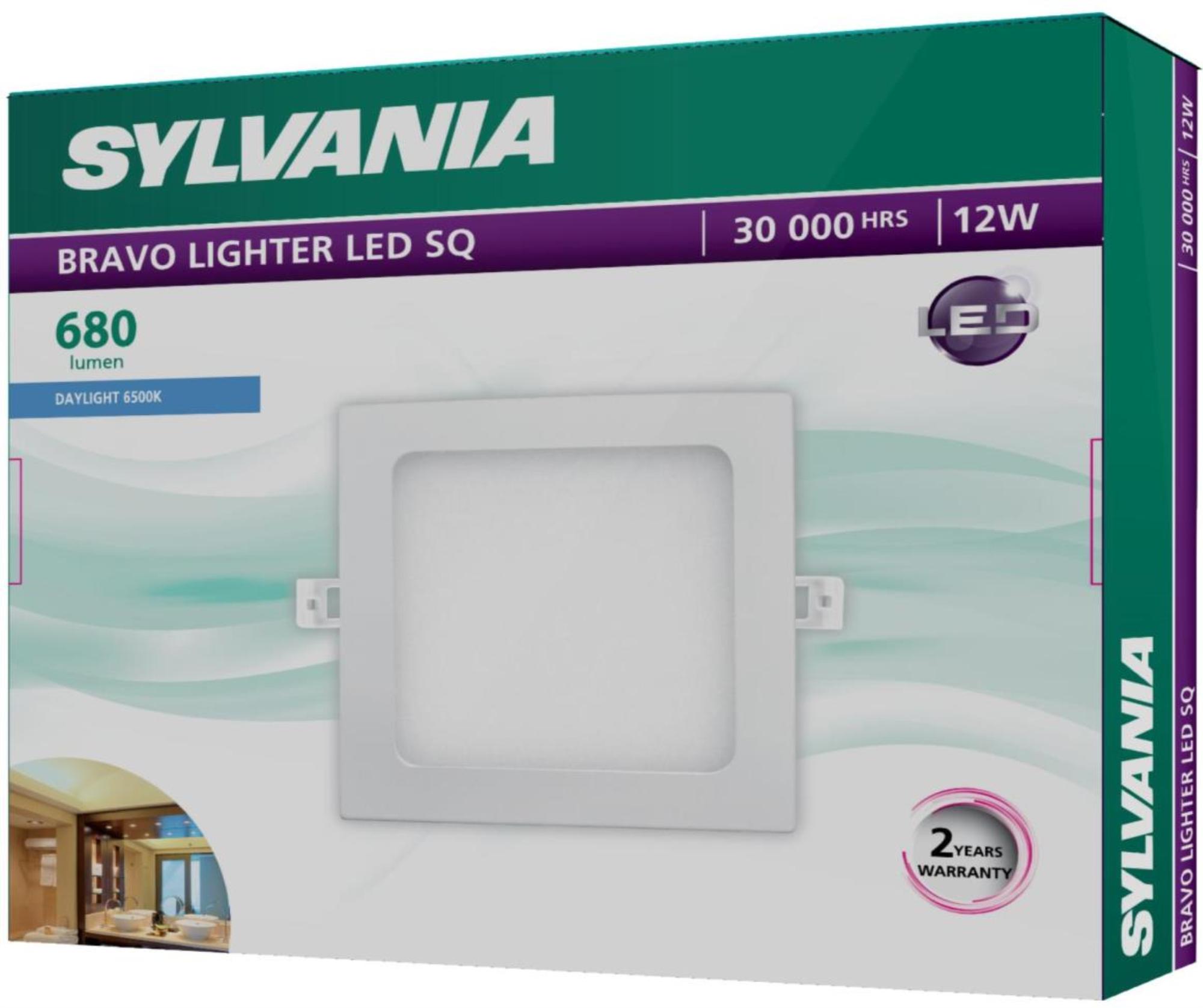 SYLVANIA  ดาวน์ไลท์ BRAVO LIGHTER LED SQ  _12 วัตต์ (แสงเดย์ไลท์)