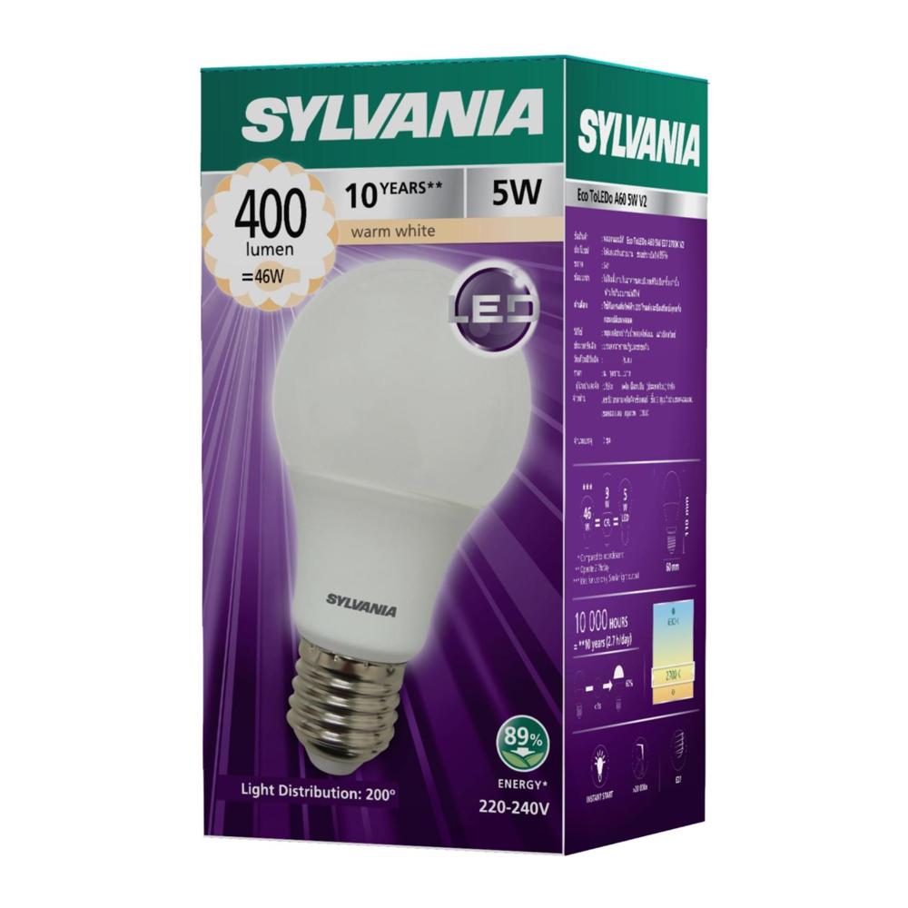 SYLVANIA หลอดไฟ ToLEDo A60 5W E27 2700K  (แสงวอร์มไวท์)