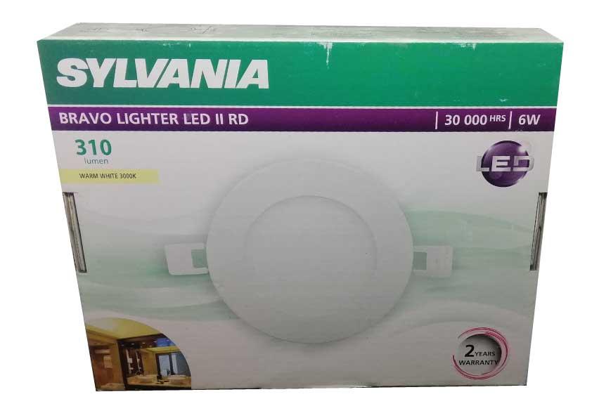 SYLVANIA  ดาวน์ไลท์ BRAVO LIGHTER LED II RD  _6 วัตต์ (แสงวอร์ทไวท์)