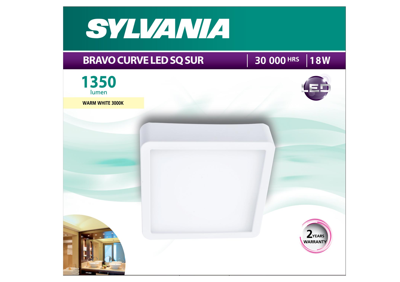 BRAVO CURVE LED SQ SUR 12W (warmwhite)