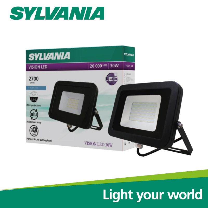 Sylvania LED Floodlight โคมฟลัดไลท์แอลอีดี โคมสปอร์ตไลท์  VISION LED 30W เดย์ไลท์