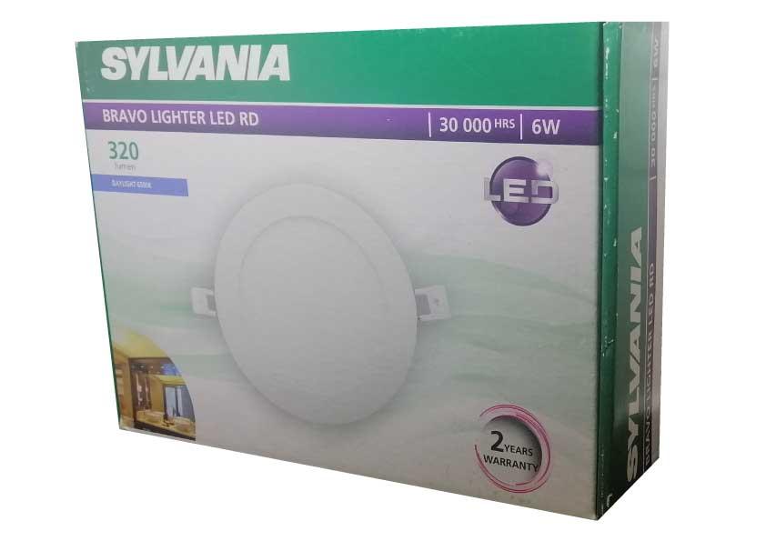 SYLVANIA  ดาวน์ไลท์ BRAVO LIGHTER LED RD 6W DL _6 วัตต์ (แสงเดย์ไลท์)