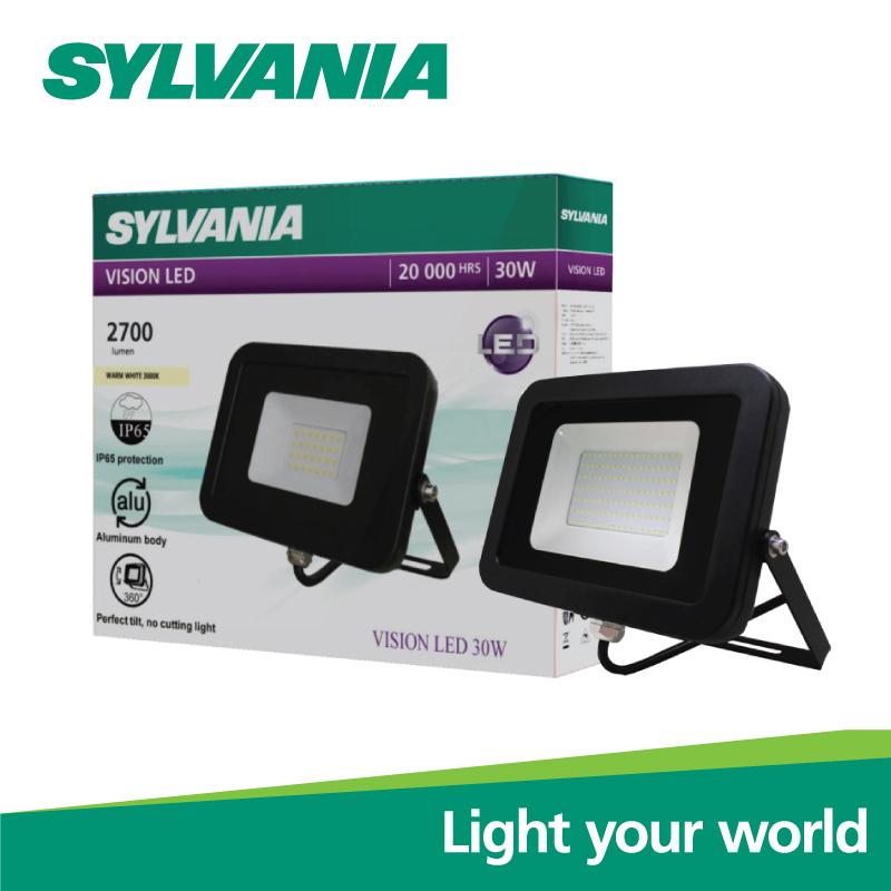 Sylvania LED Floodlight โคมฟลัดไลท์แอลอีดี โคมสปอร์ตไลท์  VISION LED 30W วอร์มไวท์